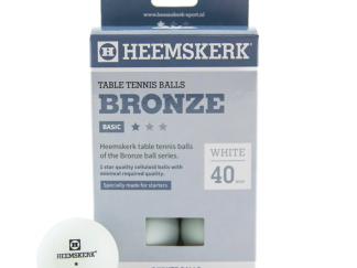 Tafeltennisballen Heemskerk Bronze 1 ster Wit (6)