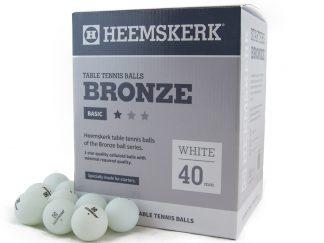 Tafeltennisballen Heemskerk Bronze 1 ster Wit (120)