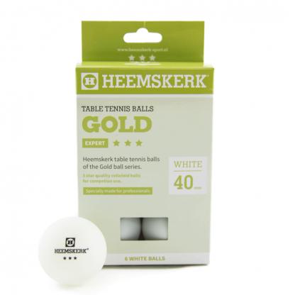 Tafeltennisballen Heemskerk Gold 3 ster Wit (6)