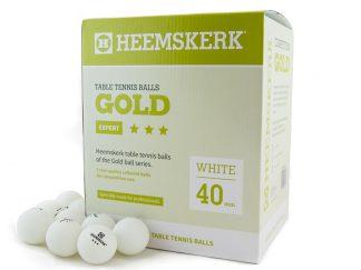 Tafeltennisballen Heemskerk Gold 3 ster Wit (120)