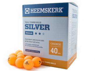 Tafeltennisballen Heemskerk Silver 2 ster Oranje (120)