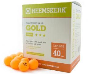 Tafeltennisballen Heemskerk Gold 3 ster Oranje (120)