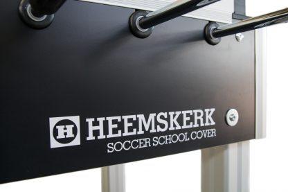 Voetbaltafel Heemskerk Soccer School Cover Zijkant Logo