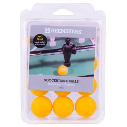 Tafelvoetbalballetjes Geel (PRO) per 12 stuks