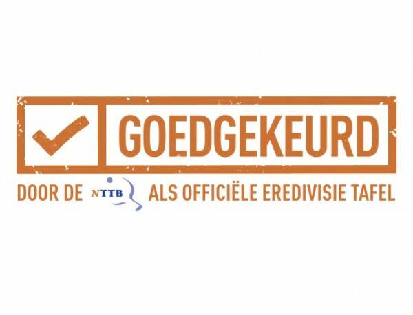 Tafeltennistafel Heemskerk Novi 2000 Groen Logo Eredivisietafel