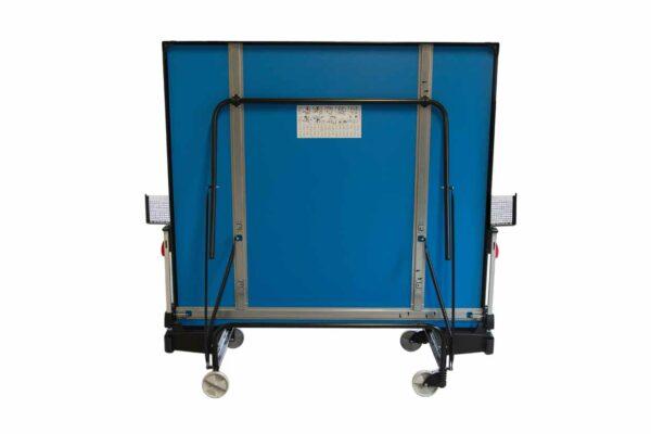 Tafeltennistafel Heemskerk Rol Compact 1800 Outdoor Blauw Opgeklapt Achter