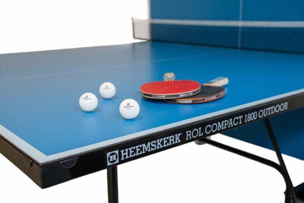 Tafeltennistafel Heemskerk Rol Compact 1800 Outdoor Blauw Randlijst