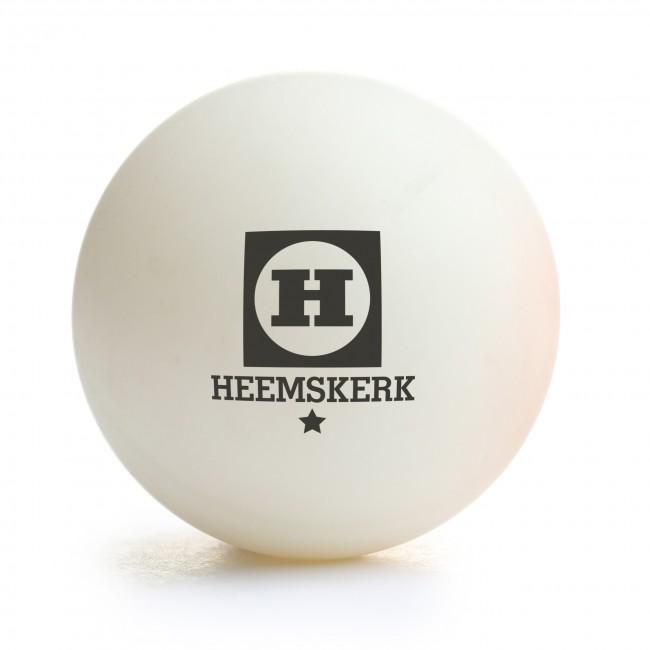 Tafeltennisbal Heemskerk Bronze 1 ster Wit