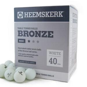 Tafeltennisballen Heemskerk Bronze 1 ster Wit 120