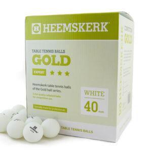 Tafeltennisballen Heemskerk Gold 3 ster Wit 120