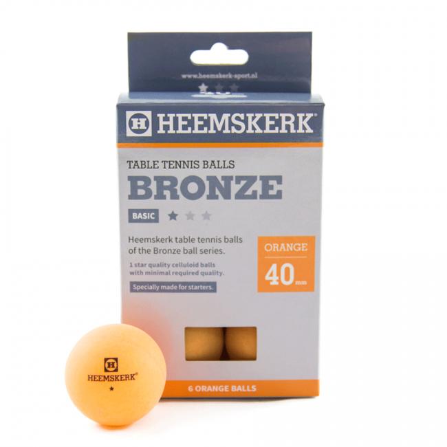 Tafeltennisballen Heemskerk Bronze 1 Ster Oranje 6