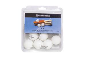 Tafeltennisballetjes Heemskerk Silver Wit Per 12