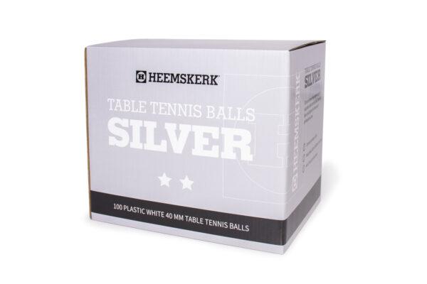 Tafeltennisballetjes Heemskerk Silver Wit Per 100