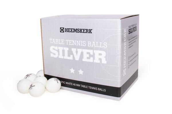 Tafeltennisballetjes Heemskerk Silver Wit Per 100 Losse Balletjes