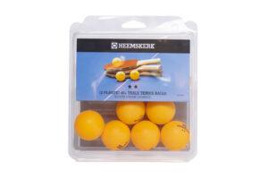 Tafeltennisballetjes Heemskerk Silver Oranje Per 12