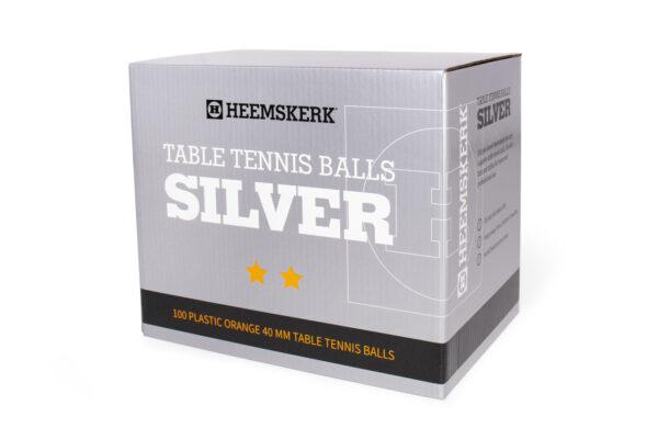Tafeltennisballetjes Heemskerk Silver Oranje Per 100