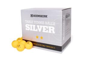 Tafeltennisballetjes Heemskerk Silver Oranje Per 100 Losse Balletjes