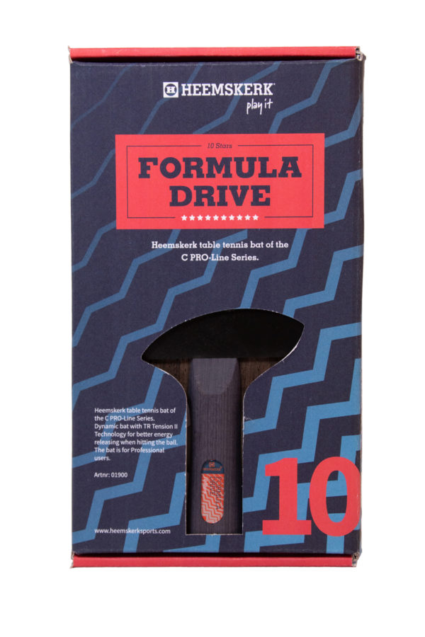 Tafeltennisbatje Heemskerk Formula Drive Achterkant Doos