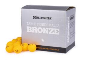Tafeltennisballetjes Heemskerk Bronze Oranje per 100 Losse Balletjes