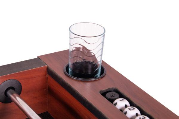 Voetbaltafel Heemskerk Pirate Bekerhouder met Glas