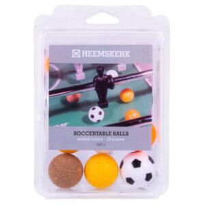 Tafelvoetbalballetjes Assorti per-12