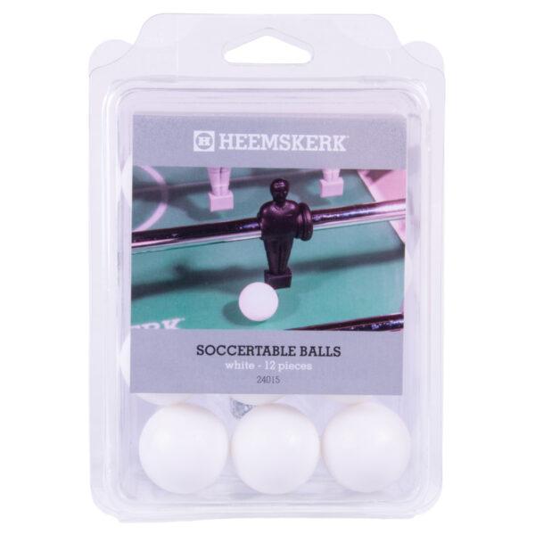 Tafelvoetbalballetjes Glad Wit per 12