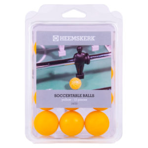 Tafelvoetbalballetjes Glad Geel Per 12 stuks
