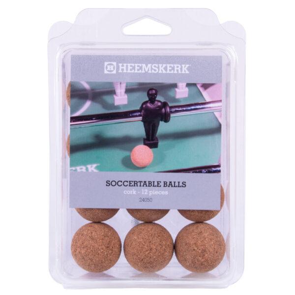 Tafelvoetbalballetjes Kurk per 12