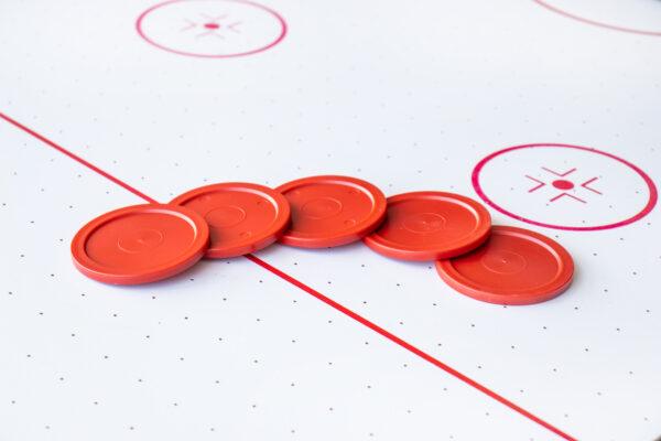 Airhockey Pucks 63mm Rood Airhockeytafel