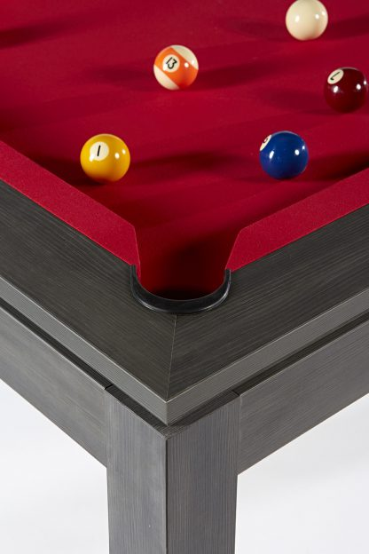 Pool- & Eettafel Heemskerk Centre Shot 6ft Dark Grey Details