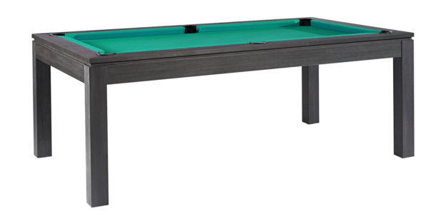 Pool- & Eettafel Heemskerk Centre Shot 6ft Dark Grey met Groen Laken
