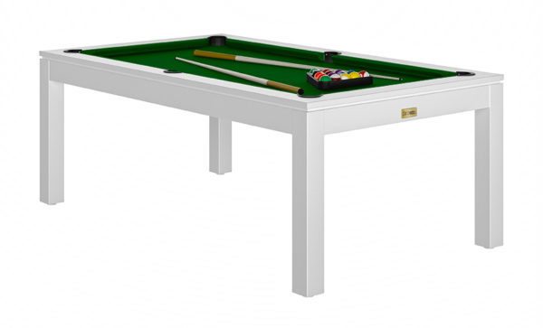 Pool- & Eettafel Heemskerk Centre Shot 6ft Wit met Groen Laken