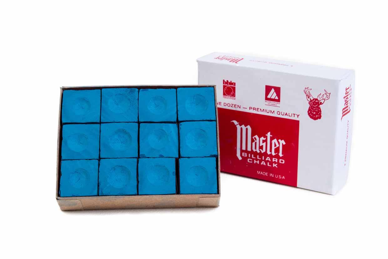 Biljartkrijt Master Blauw (per 12)