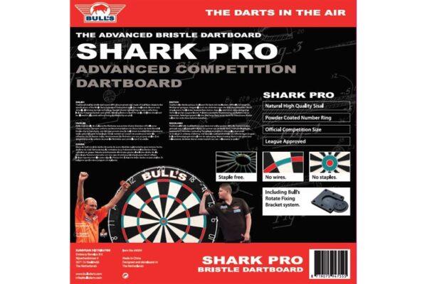 Dartbord Shark Pro Doos Achterkant