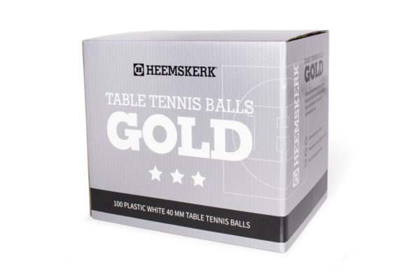 Tafeltennisballetjes Gold Wit Per 100