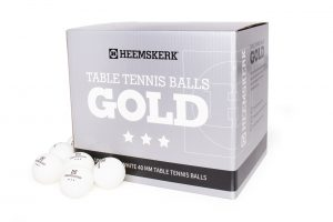Tafeltennisballetjes Gold Wit Per 100 Losse Balletjes