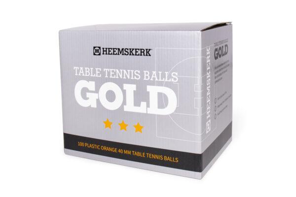 Tafeltennisballetjes Gold Oranje Per 100
