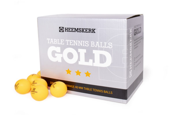Tafeltennisballetjes Gold Oranje Per 100 Losse Balletjes