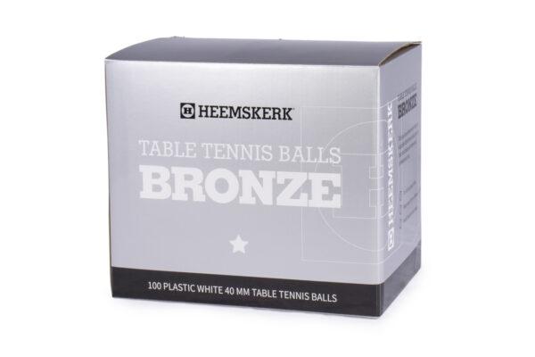 Tafeltennisballetjes Heemskerk Bronze Wit per 100